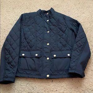 Light navy down jacket